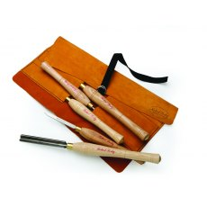 Five Piece Turning Tool Leather Roll Set
