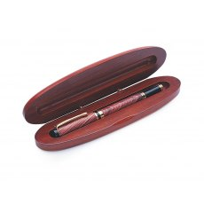 Oval Stained Pen Box - Single