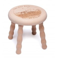 4 Legged Stool with Screw in Legs