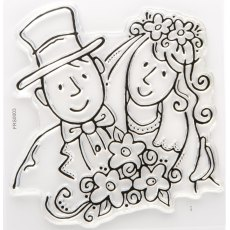 Bride and Groom Stamp