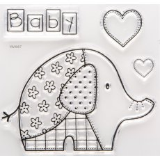 Baby Patch Elephant Stamp Set