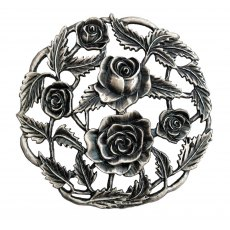 Pewter Lid - Roses