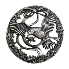Pewter Lid - Bird & Bow