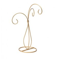 3 Arm Ornament Stand - Gold