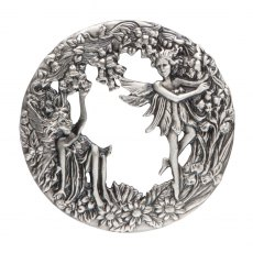Pewter Lid - Fairies