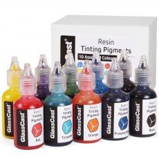 Resin Tinting Pigments -  Assorted Colours (Pack of 10)