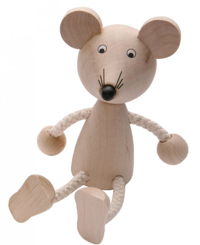 J30336 - Novelty Wooden Mouse Toy