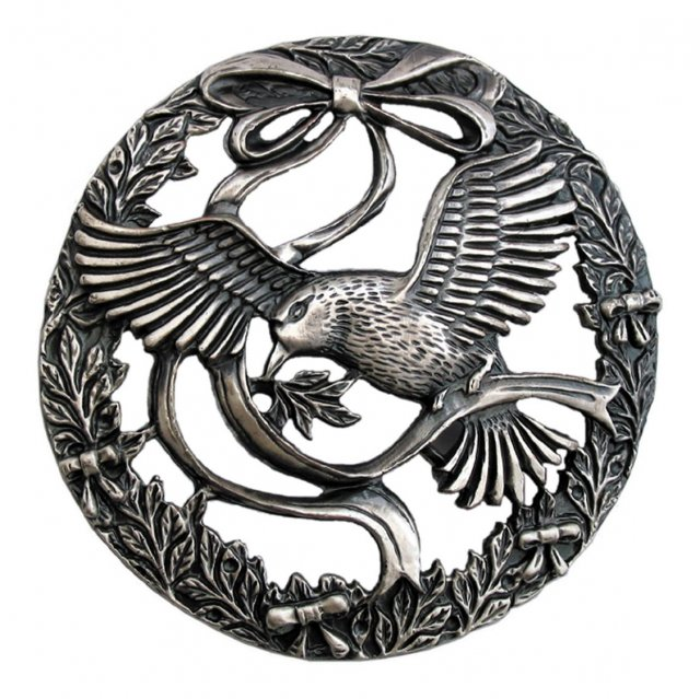 PL11 - Pewter Lid - Bird & Bow